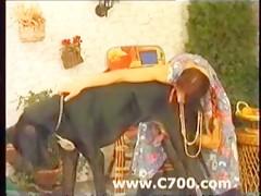 Veterano mutilado con enfermera mulata