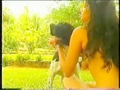 Jugando con el perro